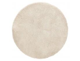 Beige rond design tapijt 'TISSO' - Ø 160 cm