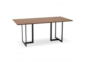 Eettafel / design bureau TITUS van notenhout - 180x90 cm - Foto 2