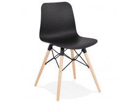 Scandinavische stoel 'TONIC' zwart design