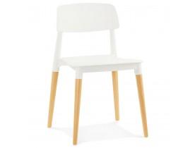 Moderne, witte stoel 'TRENDY' in Scandinavische stijl