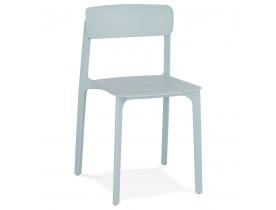 Binnen-/buitenstoel 'TROPICAL' van pastelblauw kunststof staplebaar