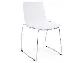 Witte design stoel 'TRENO' in kunststof