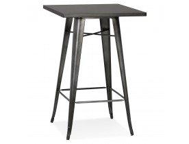 Hoge tafel van donkergrijs metaal 'VADOR' - 70x70 cm