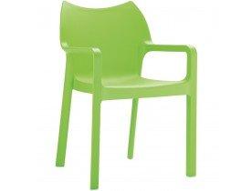 Design terrasstoel 'VIVA' uit groene kunststof