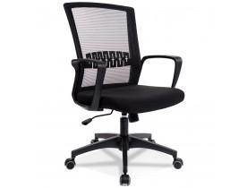 Design bureaustoel 'VOODOO' van zwarte stof