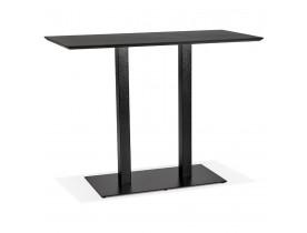 Zwarte hoge design tafel 'ZUMBA BAR' met zwarte metalen poot - 150x70 cm