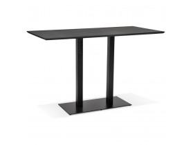 Zwarte hoge design tafel 'ZUMBA BAR' met zwarte metalen poot - 180x90 cm
