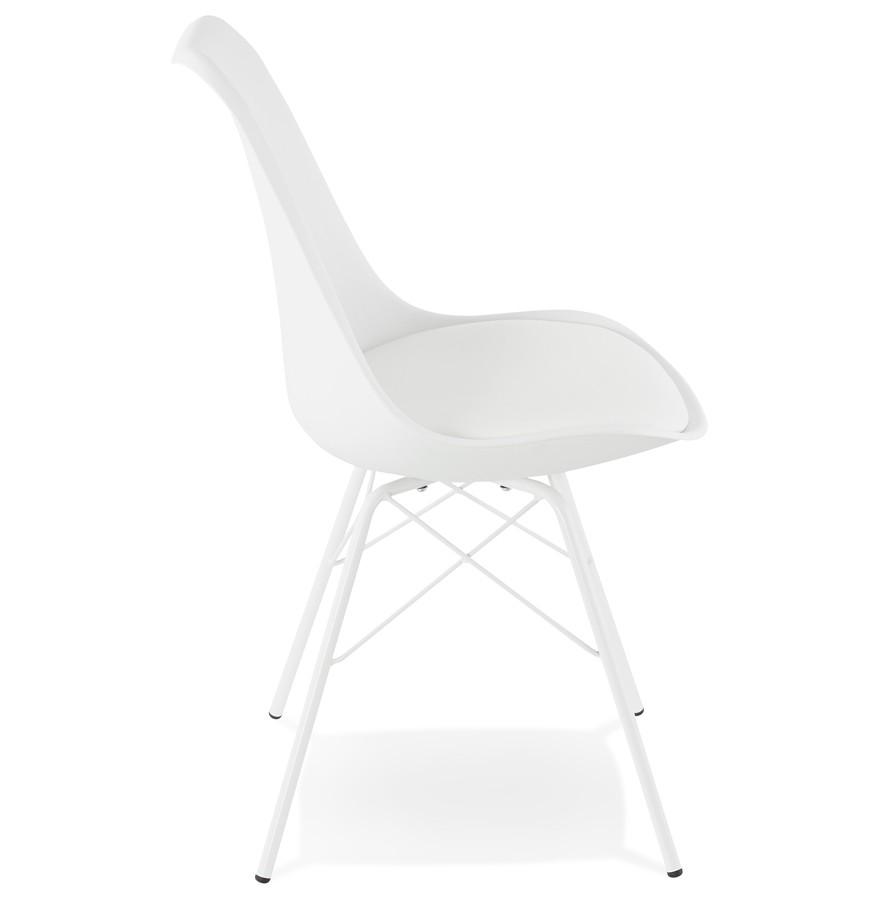 Design stoel byblos wit industri le stijl for Design stoel wit