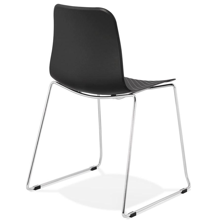 Moderne stoel expo zwart design sledestoel - Moderne stoel ...
