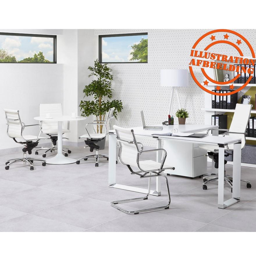 Bureaustoel Wit Design.Design Bureaustoel Giga In Wit Kunstleder Bureaustoel