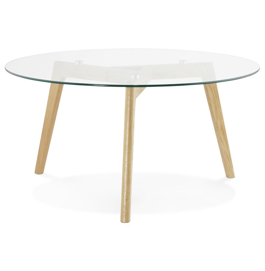 Lage ronde salontafel glazy van glas design tafel for Salontafel glas