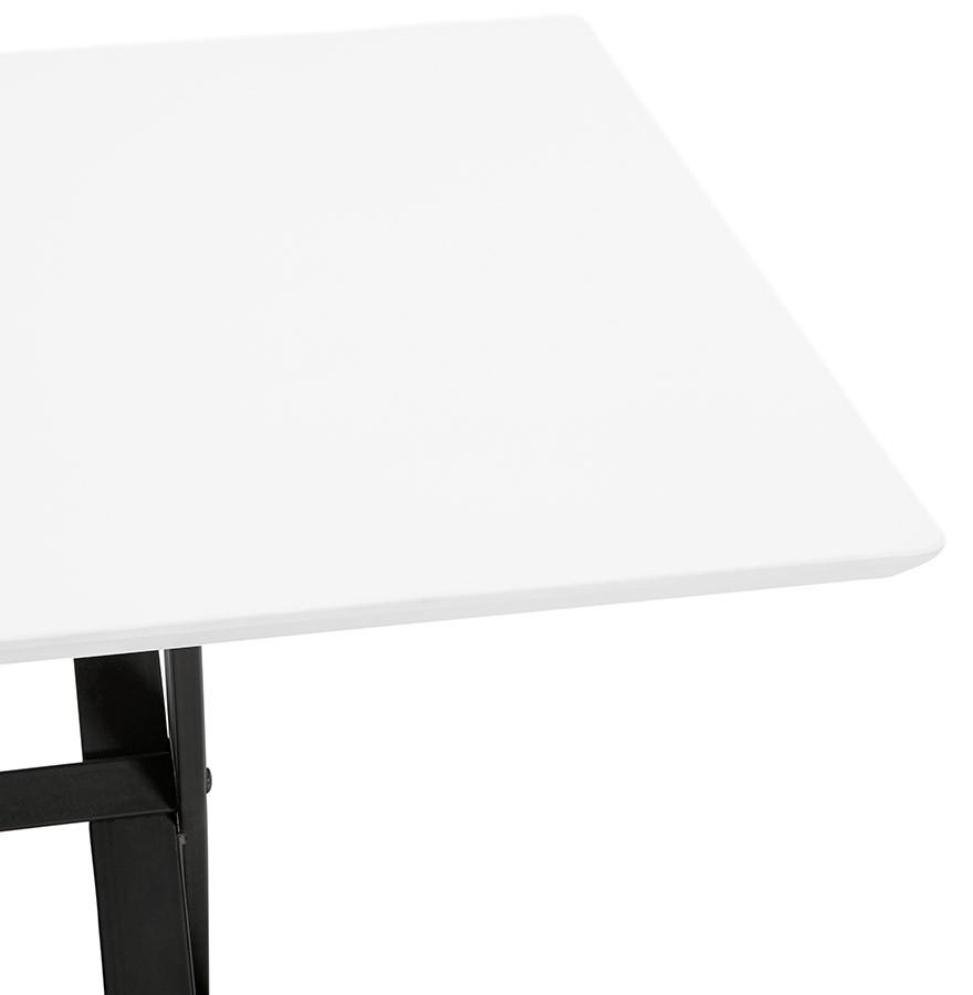 Witte Eettafel 180x90.Witte Design Eettafel Havana Met Kruis Vormige Voeten 180x90 Cm