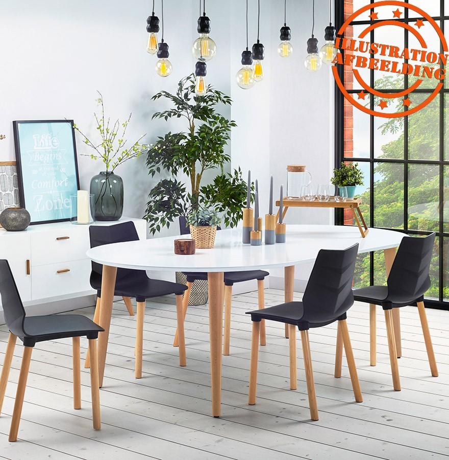 Design Eetkamer Tafel.Ronde Uitschuifbare Eetkamertafel Iglou In Scandinavische Stijl