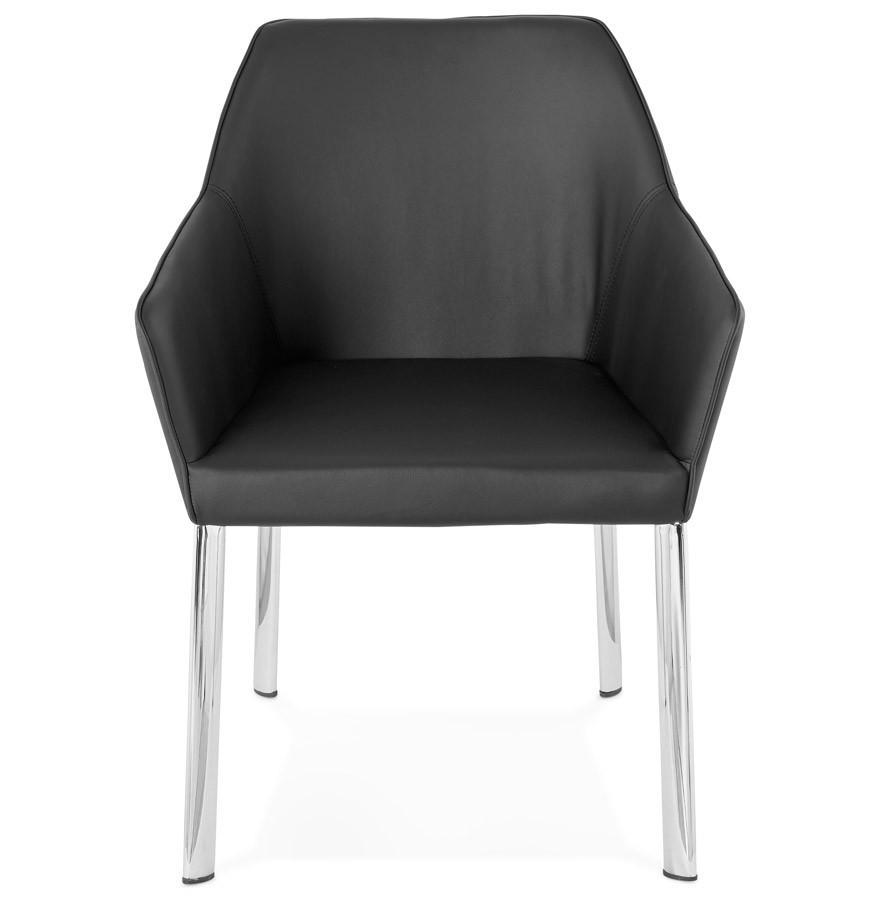 Zwarte moderne stoel manatan designstoel met armsteunen - Moderne stoel ...