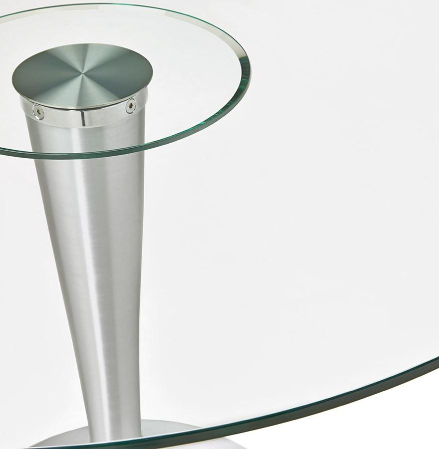 Ronde Glazen Eettafel.Moderne Ronde Glazen Eettafel Maskara O 120 Cm