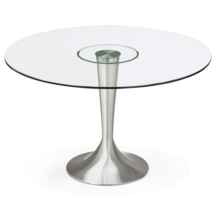 Ronde Eettafel Glas.Moderne Ronde Glazen Eettafel Maskara O 120 Cm