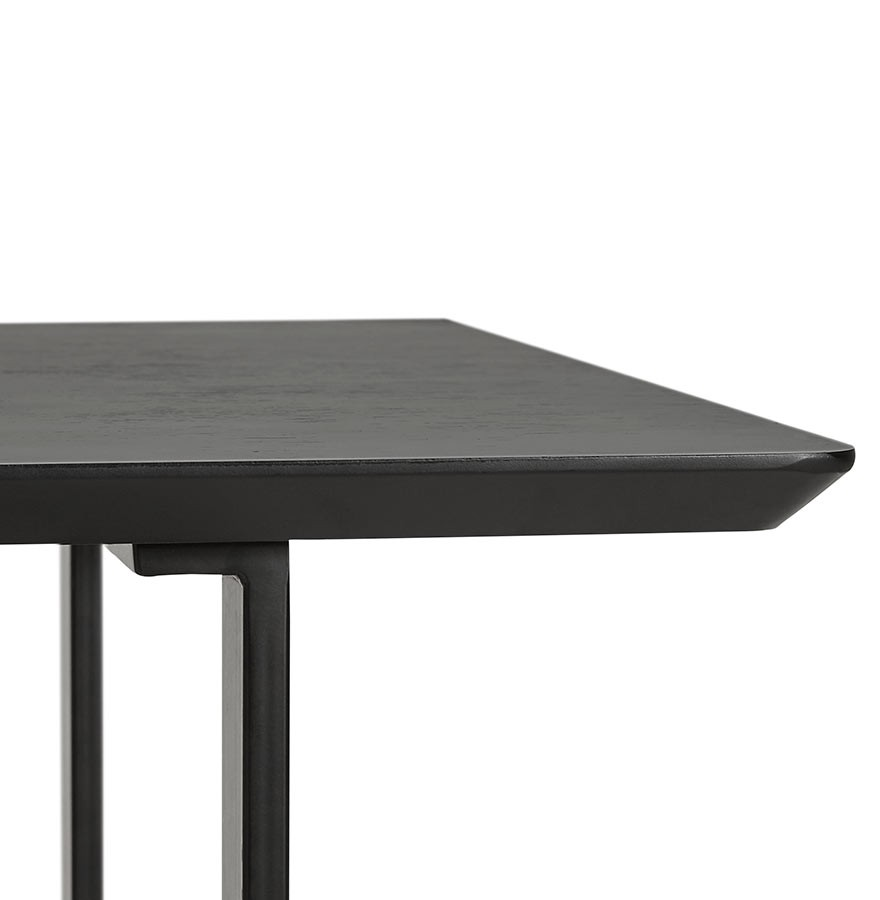 Design tafel titus van zwart hout modern bureau 150x70 cm for Bureau 150x70