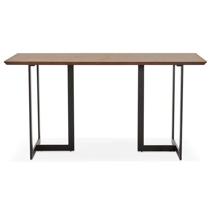 Design tafel titus van notenhout modern bureau 150x70 cm for Bureau 150x70