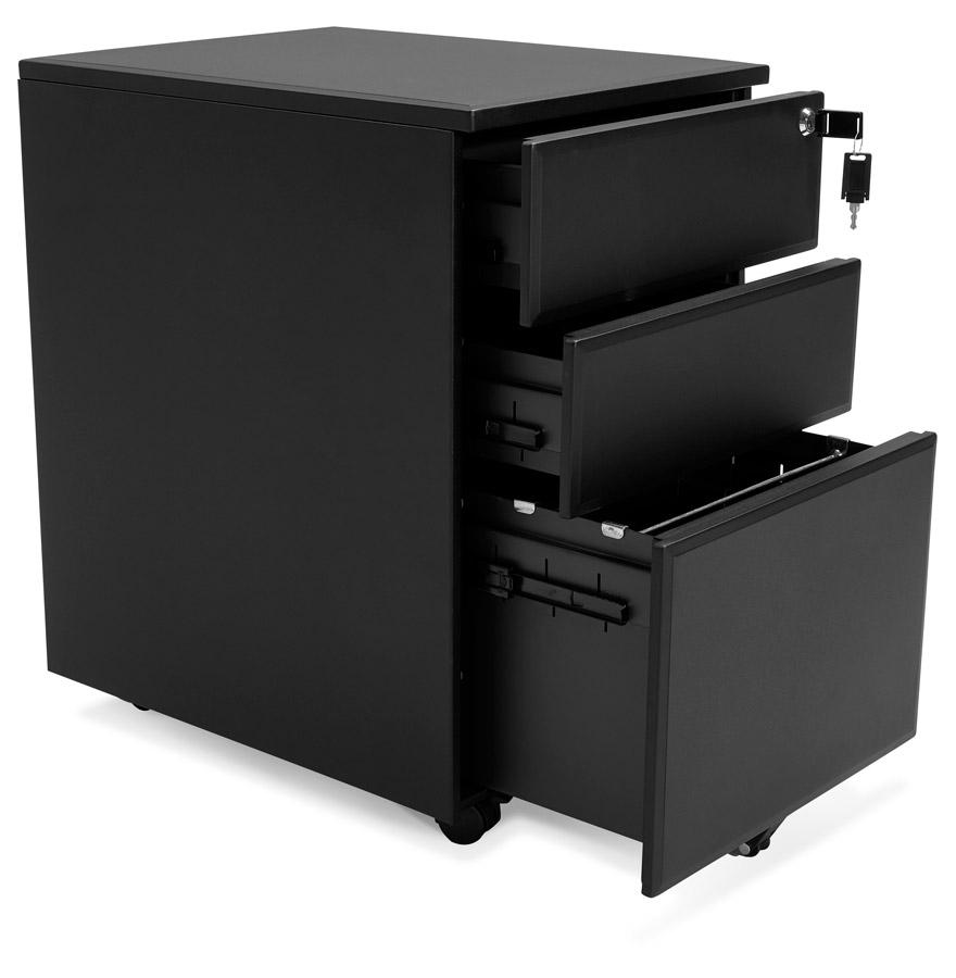 Caisson de rangement ´DALI´ noir à tiroirs pour bureau
