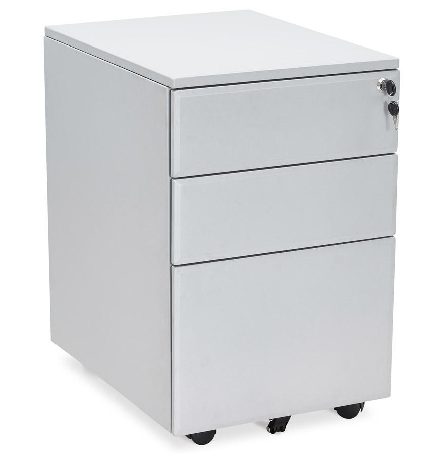 caisson de rangement dali gris tiroirs pour bureau. Black Bedroom Furniture Sets. Home Design Ideas