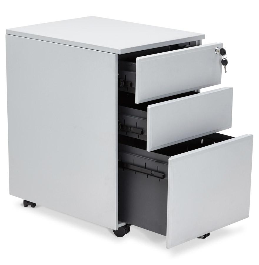 dali grey psd h2 06 1 - Caisson de rangement ´DALI´ gris à tiroirs pour bureau