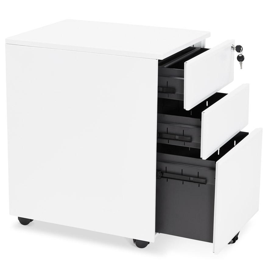 Caisson de rangement ´DALI´ blanc à tiroirs pour bureau