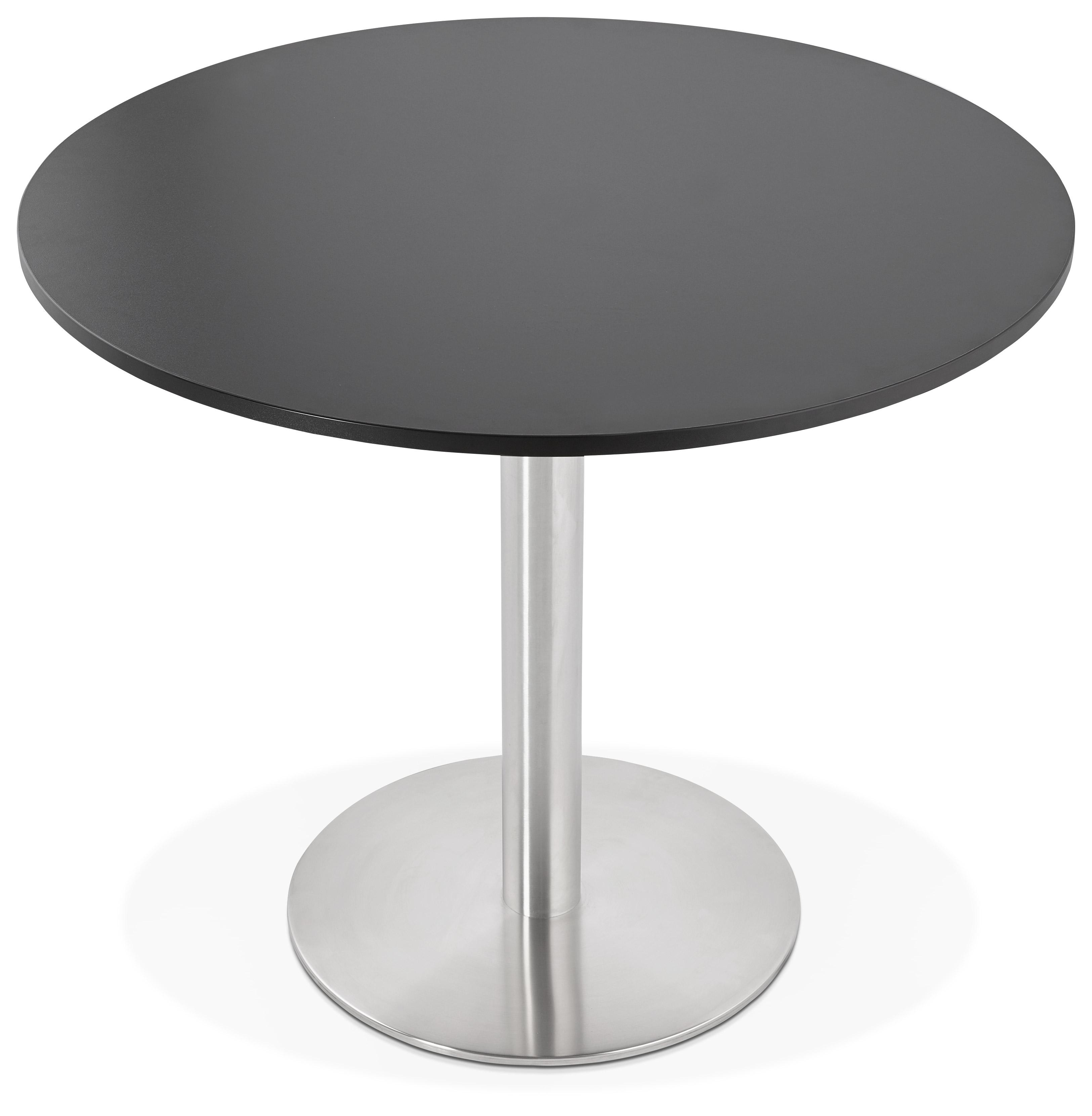 Petite table de bureau / à diner ronde ´DALLAS´ noire - Ø 90 cm