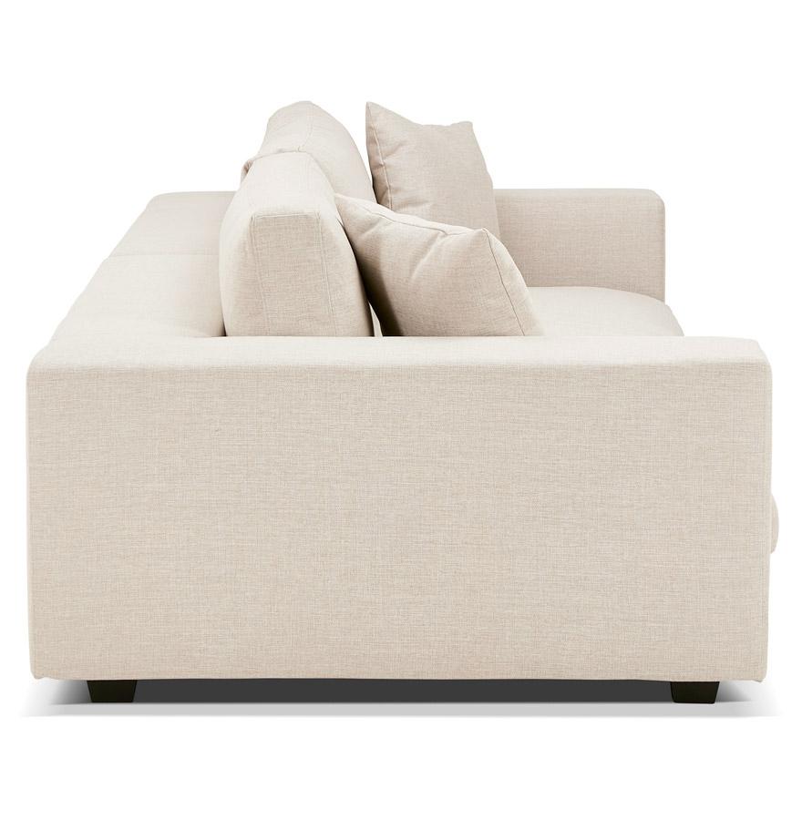grand canap droit dalton xxl en tissu beige canap design. Black Bedroom Furniture Sets. Home Design Ideas