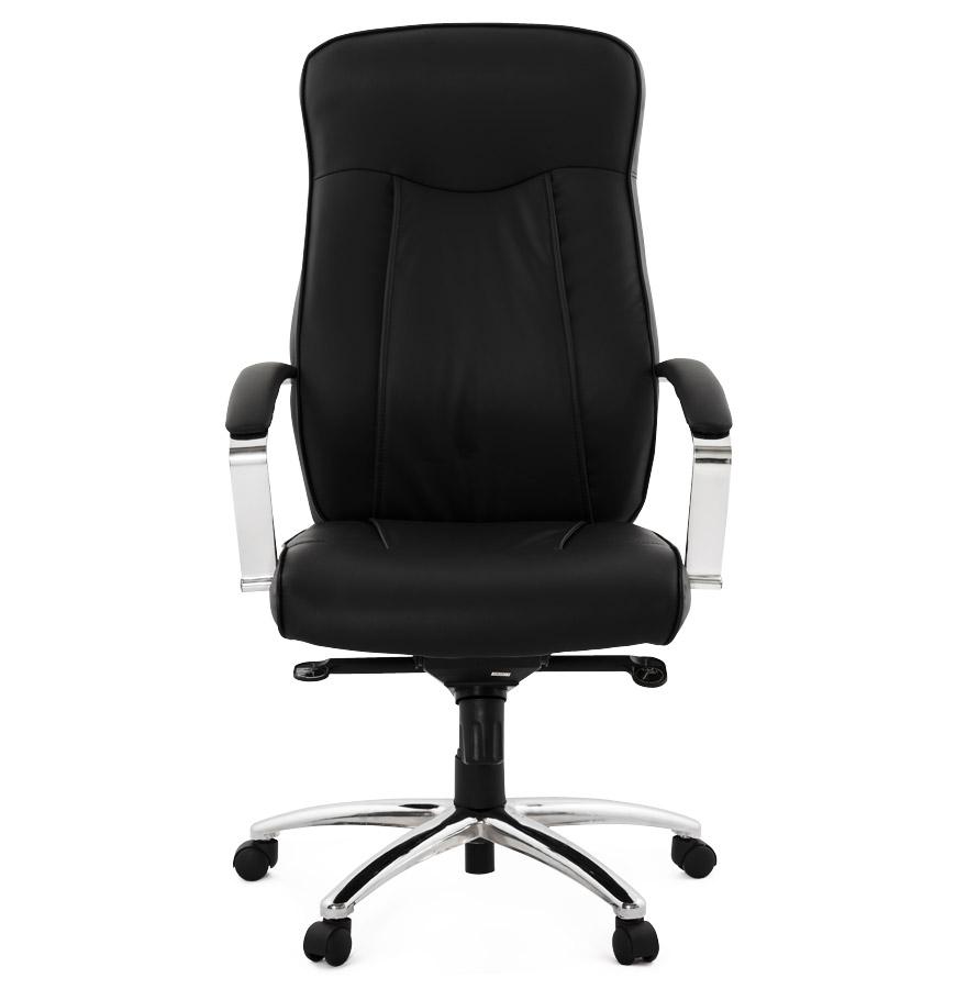 fauteuil de bureau design data en similicuir noir. Black Bedroom Furniture Sets. Home Design Ideas