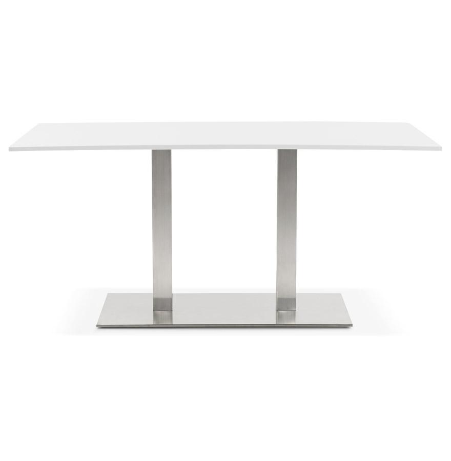 denver white h1 02 - Table / bureau design ´DENVER´ blanc - 160x80 cm