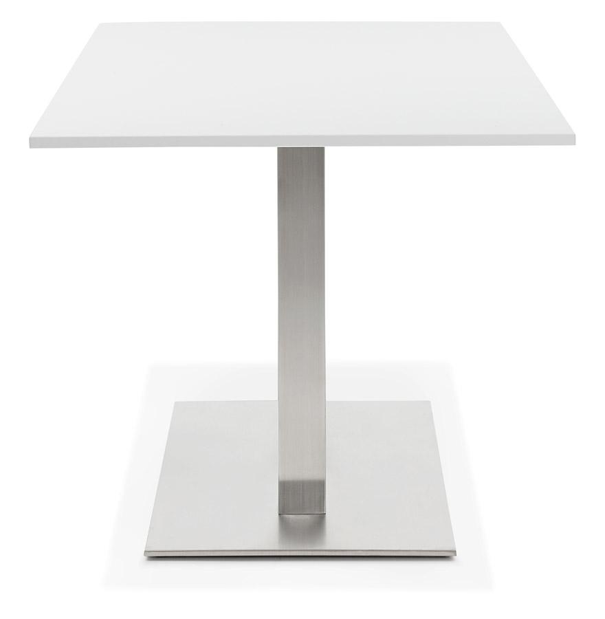 denver white h1 03 - Table / bureau design ´DENVER´ blanc - 160x80 cm