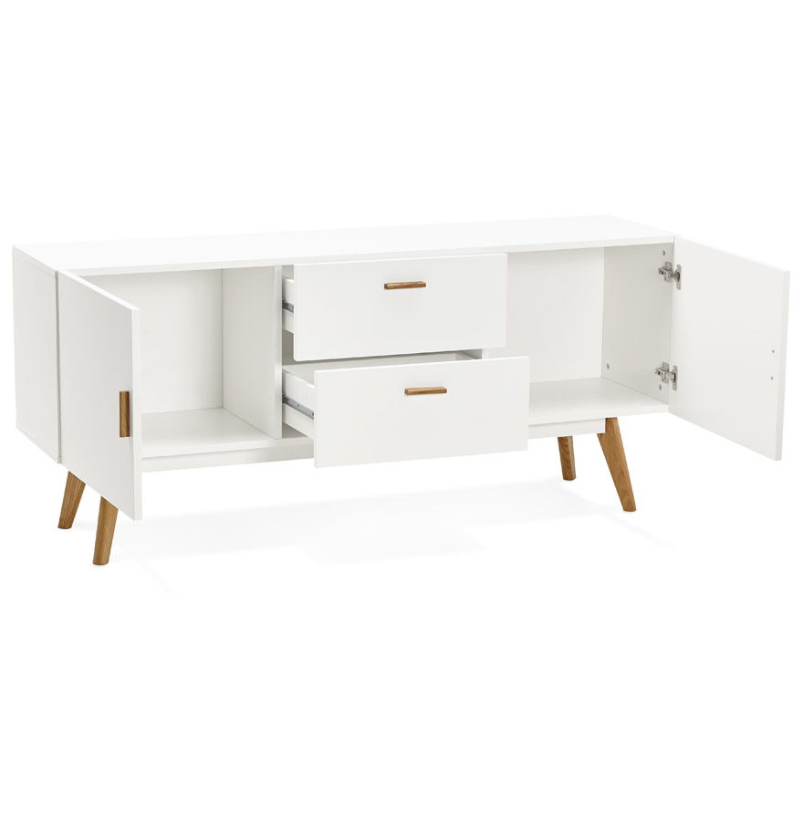 diego white h2 01b - Bahut design ´DIEGO´ en bois blanc style scandinave