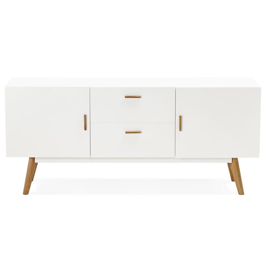 diego white h2 02 - Bahut design ´DIEGO´ en bois blanc style scandinave