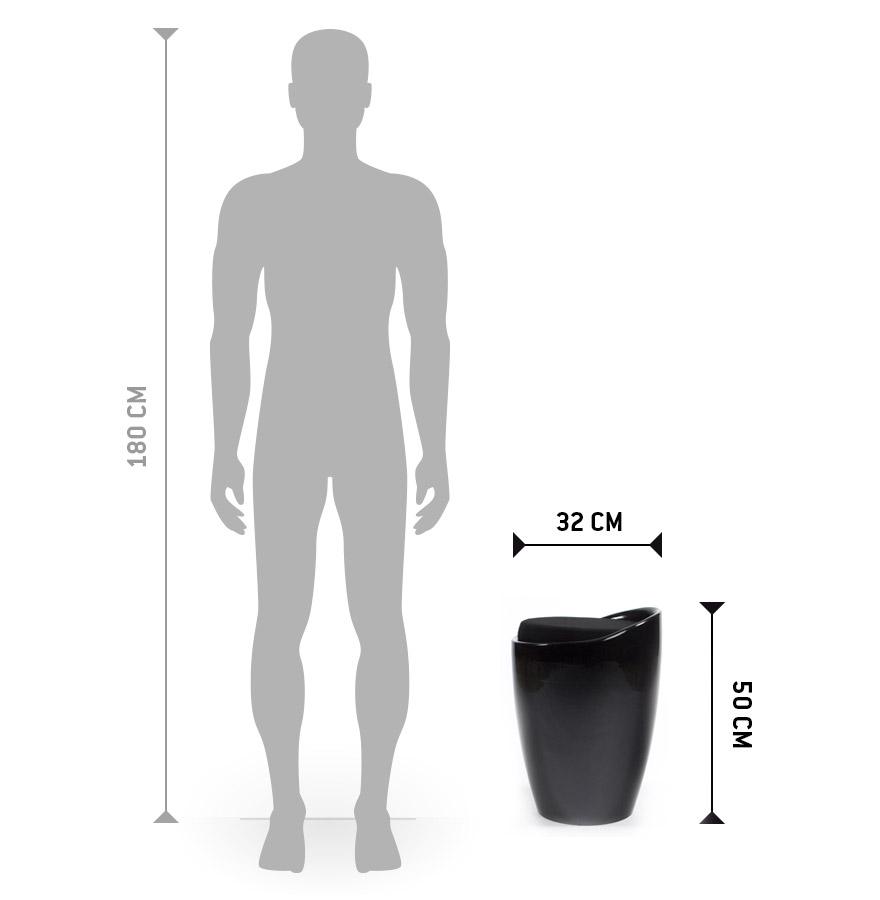 zwart bijzetkrukje met opbergruimte gum. Black Bedroom Furniture Sets. Home Design Ideas