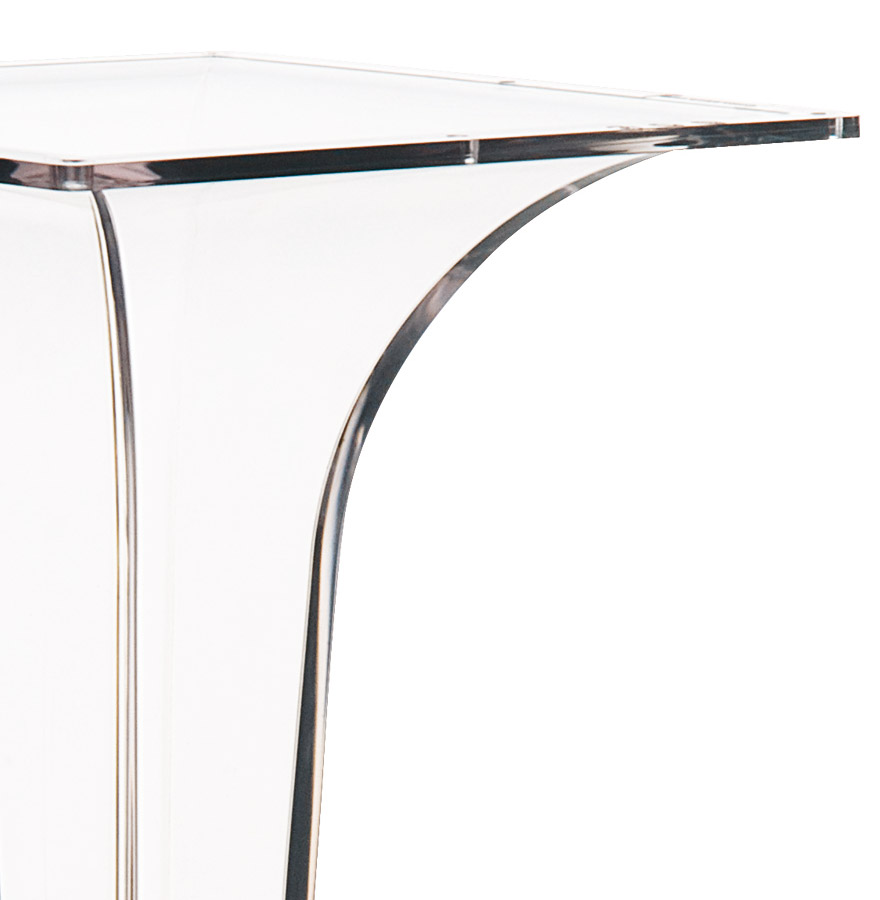 Pied de table ´DIMO´ 70 transparent très design
