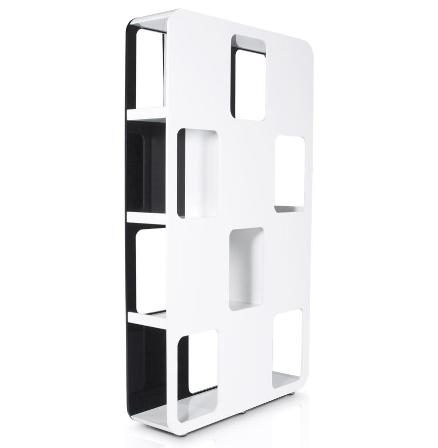 domino black white newsite 04 1 - Etagère design ´DOMINO´ en bois noir et blanc