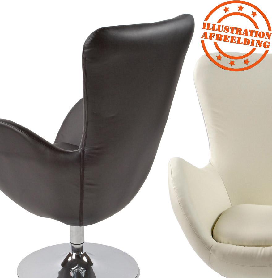 draaibare design zetel domus uit zwart imitatieleder. Black Bedroom Furniture Sets. Home Design Ideas