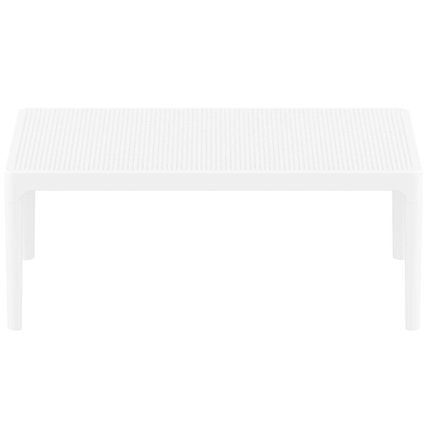 Table basse de jardin ´DOTY´ blanche design - 100x60 cm