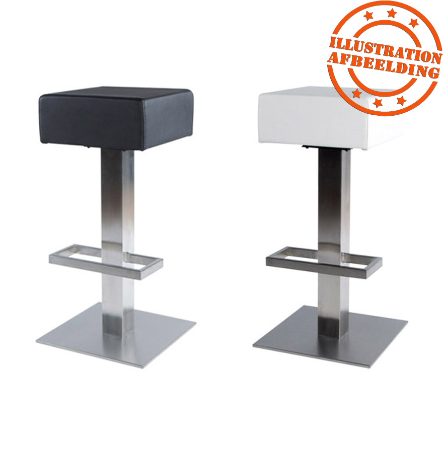 tabouret de bar design ego blanc en mati re synth tique. Black Bedroom Furniture Sets. Home Design Ideas