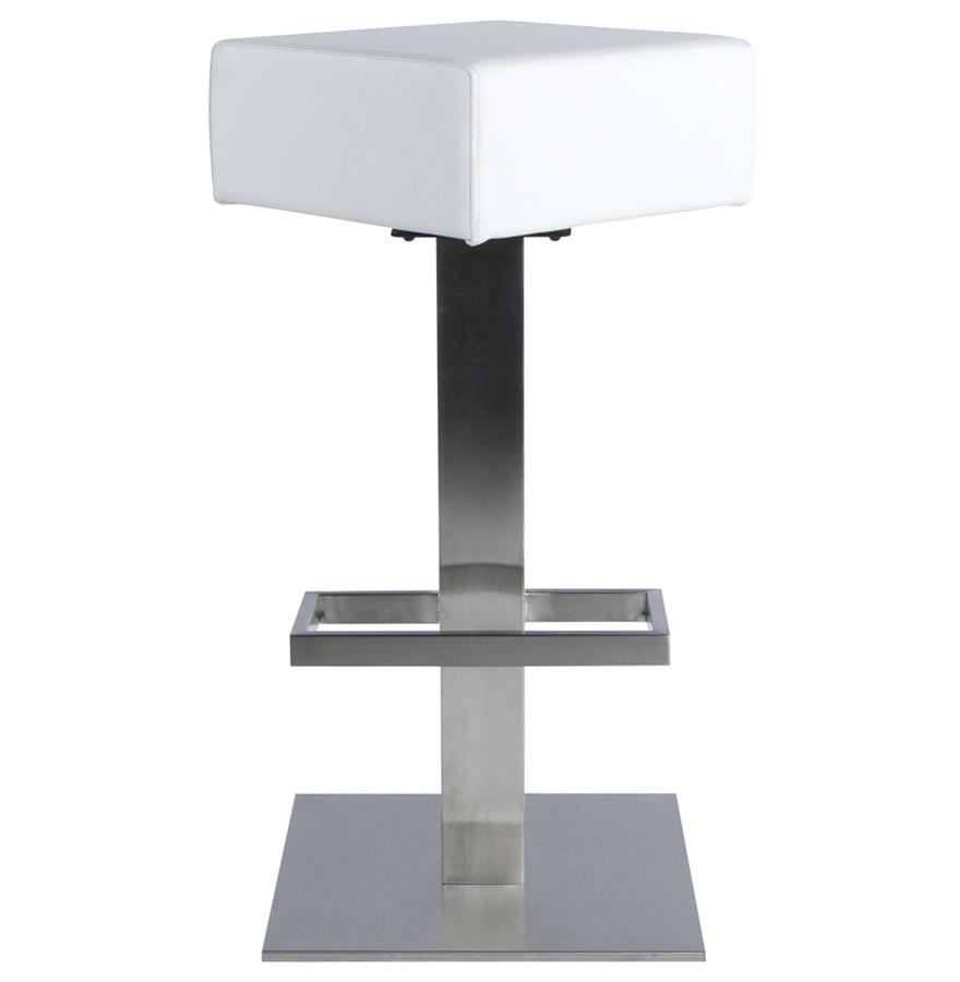 Tabouret de bar design ´EGO´ en matière synthétique blanche