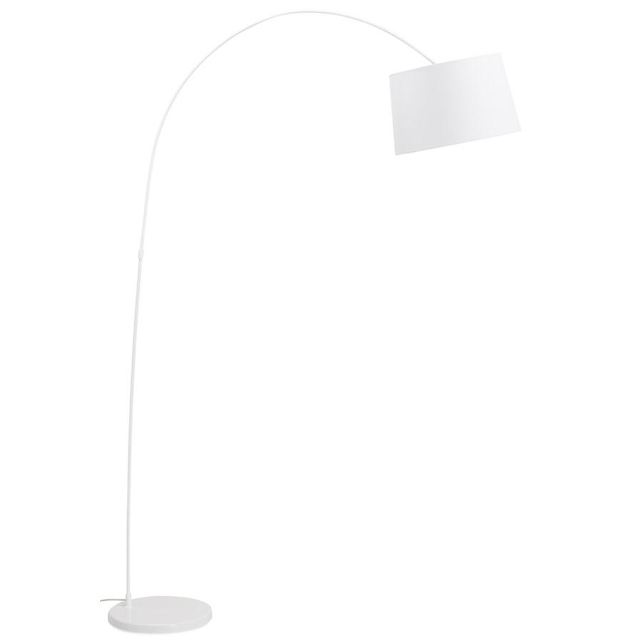 Lampadaire arqué design ´EKLIPS´ blanc