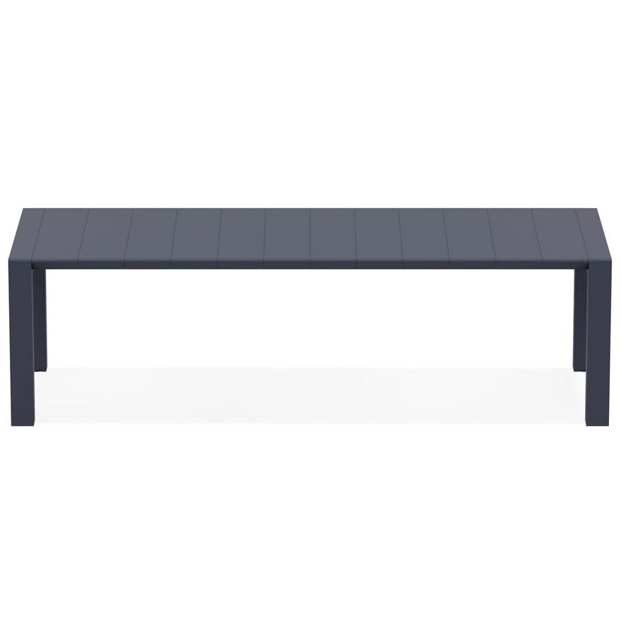 Table de jardin extensible ´ELASTIK LARGE´ grise foncée - 260(300)x100 cm