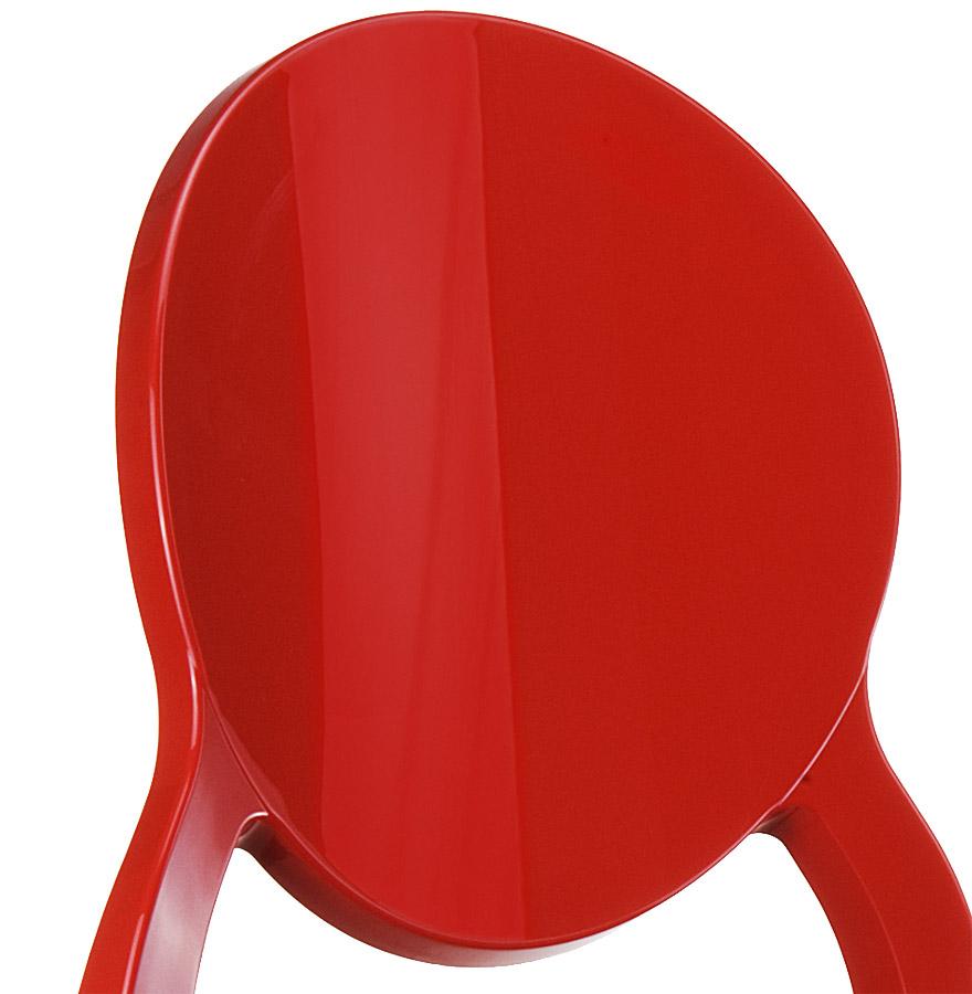 Chaise médaillon ´ELIZA´ rouge en matière plastique
