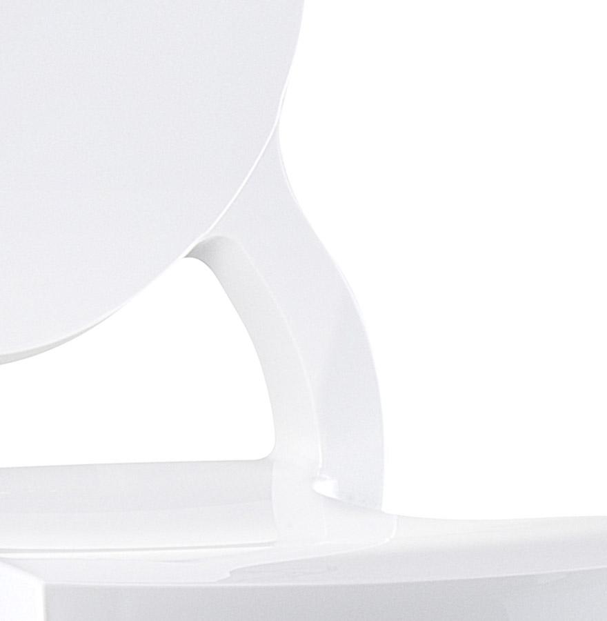 Chaise médaillon ´ELIZA´ blanche en matière plastique