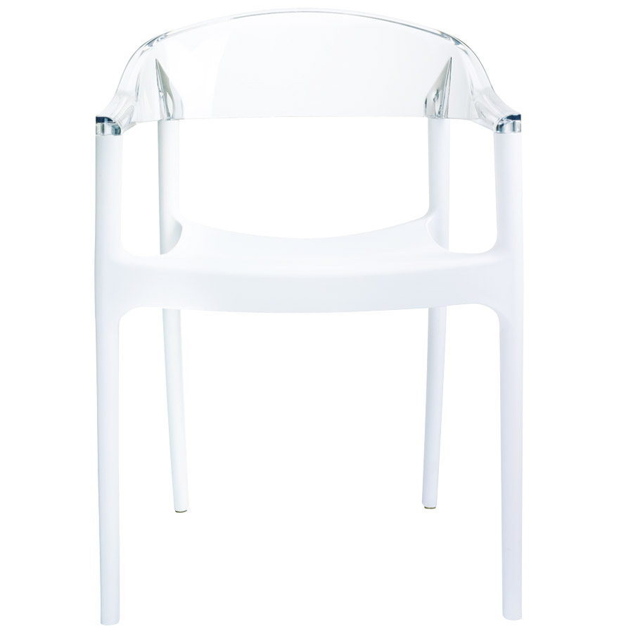 ema white clear newsite 02 - Chaise design ´EMA´ blanche et transparente