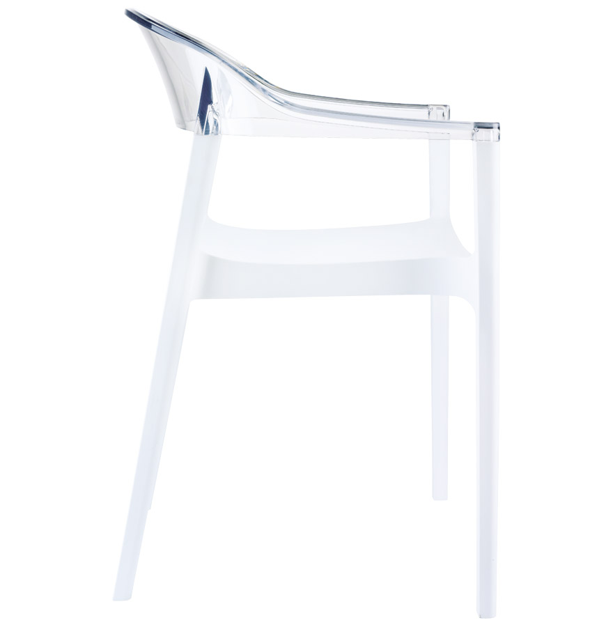 ema white clear newsite 03 - Chaise design ´EMA´ blanche et transparente