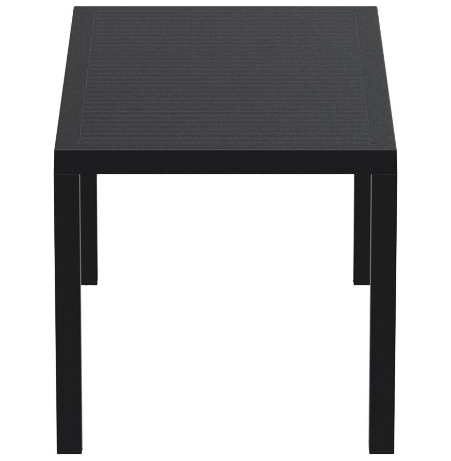 Table de jardin ´ENOTECA´ design en matière plastique noire - 140x80 cm