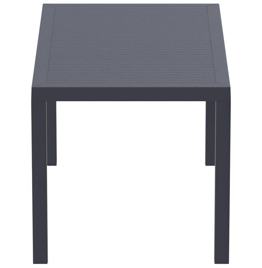 enoteca dark grey 03 - Table de jardin ´ENOTECA´ design en matière plastique grise foncée - 140x80 cm