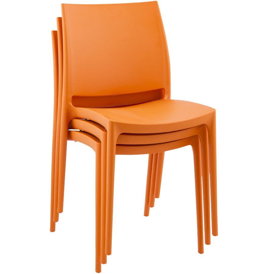 chaise design enzo chaise moderne orange en mati re plastique. Black Bedroom Furniture Sets. Home Design Ideas