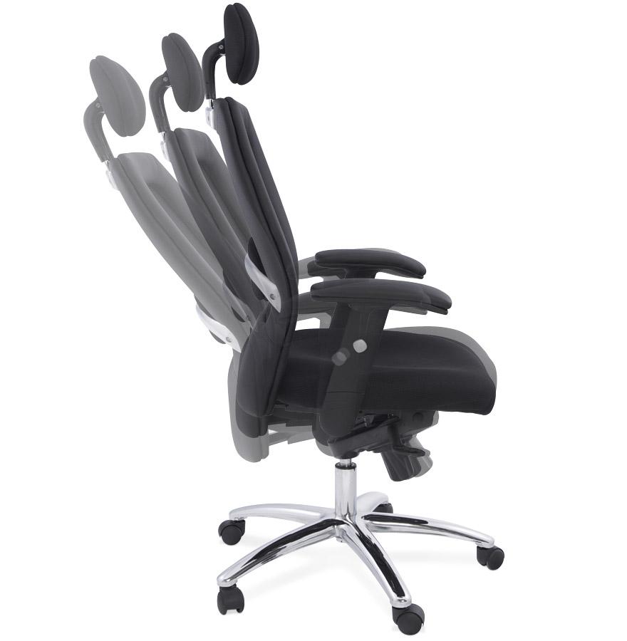 fauteuil de bureau ergo noir design ergonomique fauteuil design. Black Bedroom Furniture Sets. Home Design Ideas